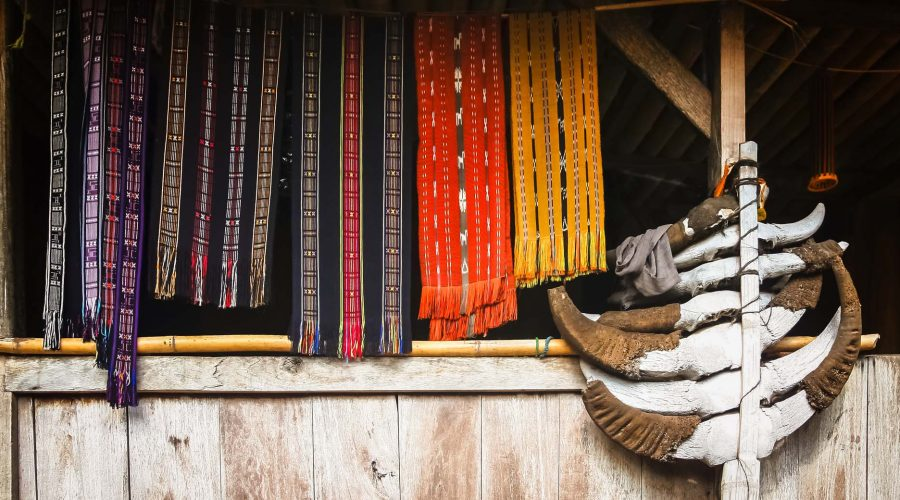 Colorful indonesian clothing accessories