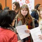 Student attending Education Fair